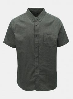 Khaki košile s kapsou Burton Menswear London