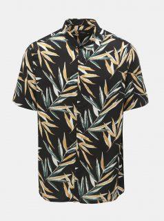 Černá vzorovaná košile Burton Menswear London