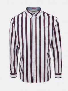 Bílá pruhovaná košile Jack & Jones Trig