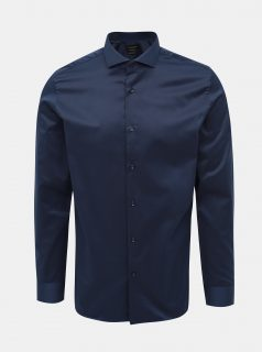 Tmavě modrá regular fit košile Jack & Jones Sel-Pelle