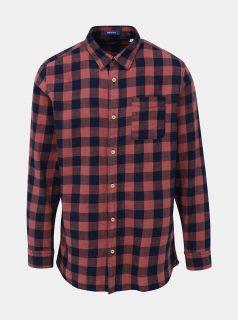 Modro-růžová kostkovaná košile Jack & Jones Marco