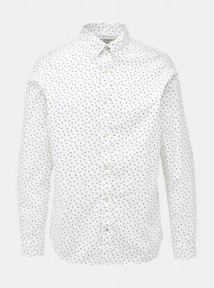Bílá vzorovaná slim fit košile Jack & Jones Print