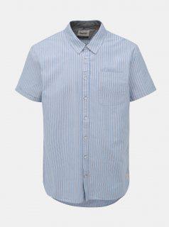 Světle modrá pruhovaná regular fit košile Blend