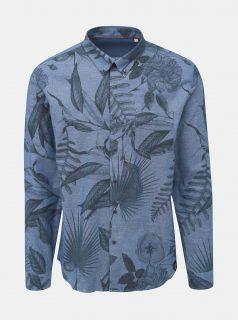Modrá květovaná košile Shine Original Indigo