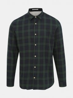 Tmavě zelená kostkovaná slim fit košile Selected Homme Wood