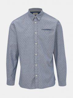 Modrá vzorovaná slim fit košile Selected Homme Bob