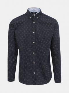 Tmavě modrá vzorovaná košile Jack & Jones Steve