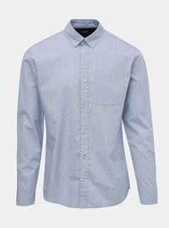Světle modrá vzorovaná košile Jack & Jones Steve