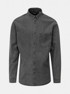 Šedá slim fit džínová košile ONLY & SONS Basic