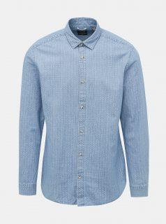 Modrá vzorovaná košile ONLY & SONS Klas