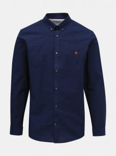 Tmavě modrá slim fit košile Jack & Jones Bla