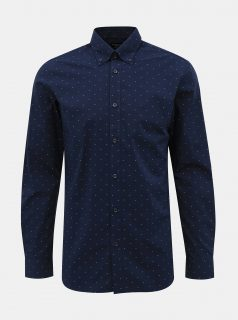 Tmavě modrá vzorovaná regular fit košile Selected Homme Regrex
