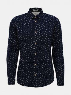 Tmavě modrá vzorovaná slim fit košile Selected Homme Nolan