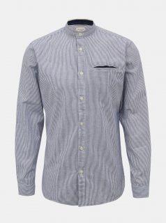 Světle modrá pruhovaná slim fit košile Selected Homme Lake