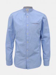 Světle modrá vzorovaná slim fit košile Selected Homme Lake