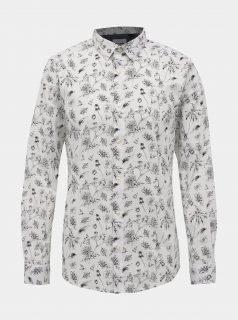Bílá květovaná košile ONLY & SONS Hogan