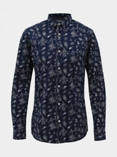 Tmavě modrá květovaná košile ONLY & SONS Hogan