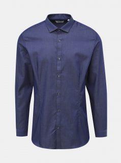 Tmavě modrá super slim fit košile Jack & Jones Parma
