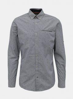 Šedá vzorovaná košile Jack & Jones Paris