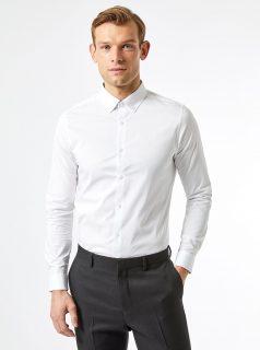 Bílá slim fit košile Burton Menswear London