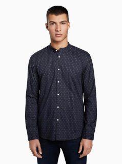 Tmavě modrá pánská košile s drobným vzorem Tom Tailor Denim