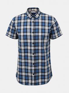 Modrá kostkovaná košile Jack & Jones Chad