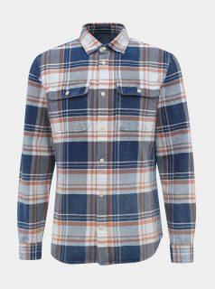 Modrá kostkovaná slim fit košile Jack & Jones Lufade