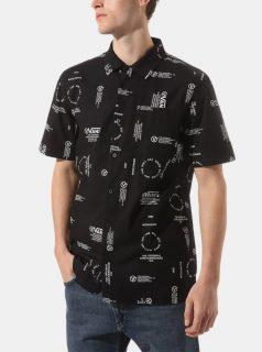 Černá pánská vzorovaná košile VANS