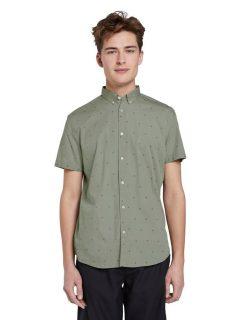 Zelená pánská vzorovaná košile Tom Tailor Denim