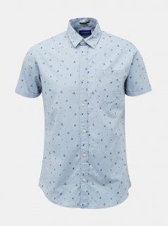 Světle modrá vzorovaná košile Jack & Jones Lasse