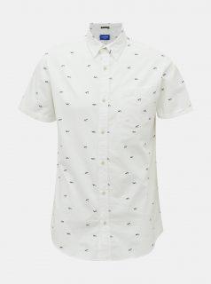 Bílá vzorovaná košile Jack & Jones Lasse