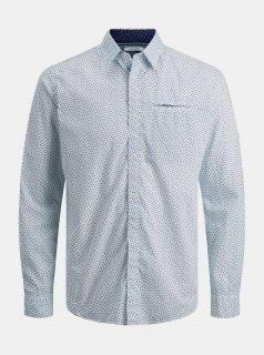 Světle modrá vzorovaná košile Jack & Jones Matthew