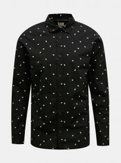 Černá vzorovaná košile Jack & Jones Madison