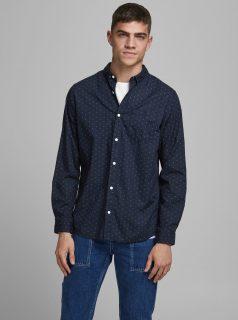 Tmavě modrá vzorovaná košile Jack & Jones Cowindsor