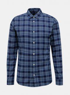 Modrá kostkovaná košile ONLY & SONS New Omar