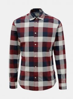 Červeno-modrá kostkovaná košile Jack & Jones Eplain