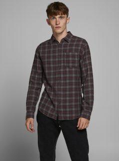 Šedá károvaná košile Jack & Jones