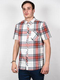Element BUFFALO BONE WHITE košile pro muže krátký rukáv – bílá