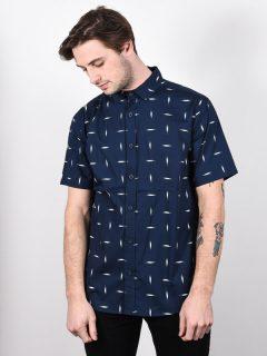 Burton SHABOOYA CAMP DRESSBLUE BASKETIKAT košile pro muže krátký rukáv – modrá