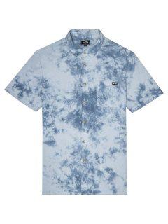 Billabong SUNDAYS TIE DYE MIST košile pro muže krátký rukáv – modrá