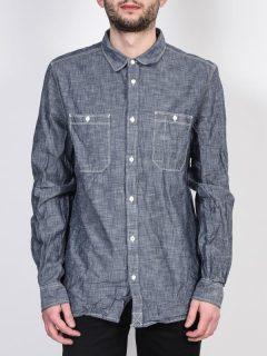 Element SUMTER INDIGO BLUE pánské košile s dlouhým rukávem – šedá