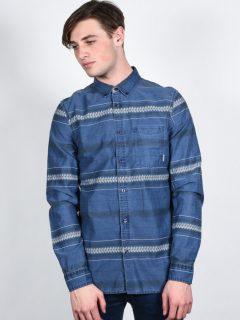 Element MOORE midnight blue pánské košile s dlouhým rukávem – modrá
