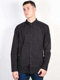 Quiksilver EVERYDAY WILSDEN TARMAC pánské košile s dlouhým rukávem – černá