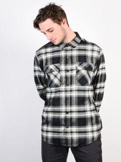 Burton BRIGHTON TECH TRUE BLACK LAHOMBRE pánské košile s dlouhým rukávem – černá
