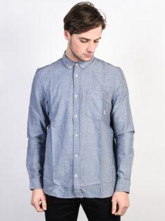 Element OXFORD NAVY pánské košile s dlouhým rukávem – modrá