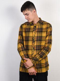 Billabong COASTLINE GOLD pánské košile s dlouhým rukávem – hnědá