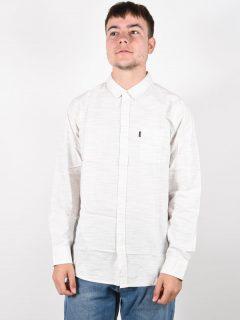 Rip Curl SANITY BONE pánské košile s dlouhým rukávem – bílá