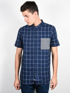 Element DALE midnight blue košile pro muže krátký rukáv – modrá