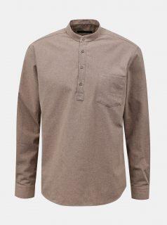 Béžová pánská košile Trendyol