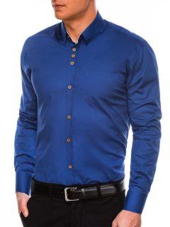 Pánská elegantní košile s dlouhým rukávem K302 – světle námořnická